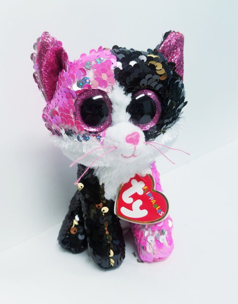 "New Ty Beanie Boos 6/"" Sparkle The Special Malibu CAT Plush Stuffed Toy Gift"