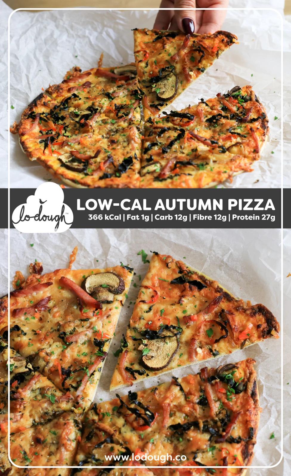 Low Cal Autumn Pizza Lo Dough Lowcalorie Lowcarb