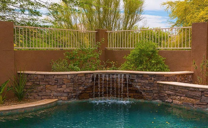 37 Swimming Pool Water Features Waterfall Design Ideas Stone