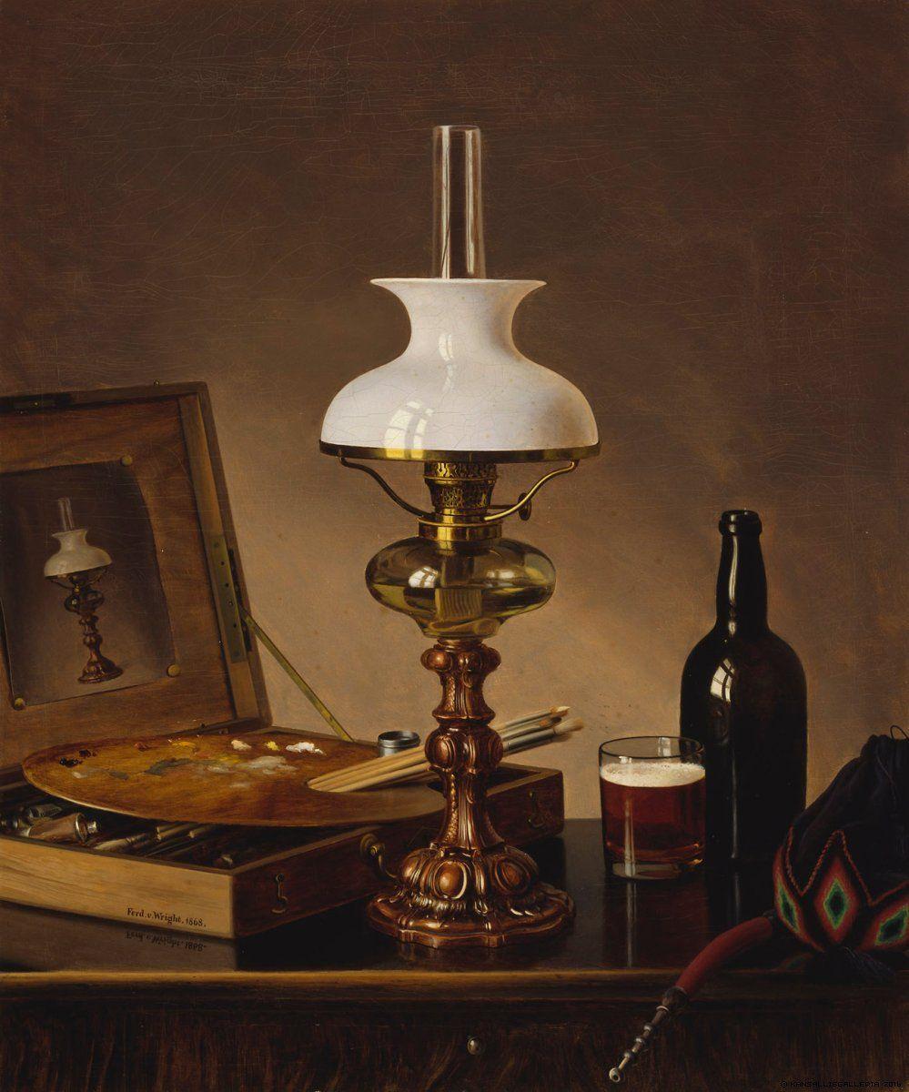 Ferdinand von Wright. Still Life in the Atelier. 1868