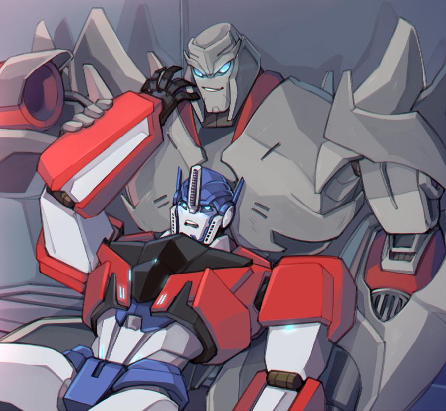 Best friends, Megatronus and Orion Pax.