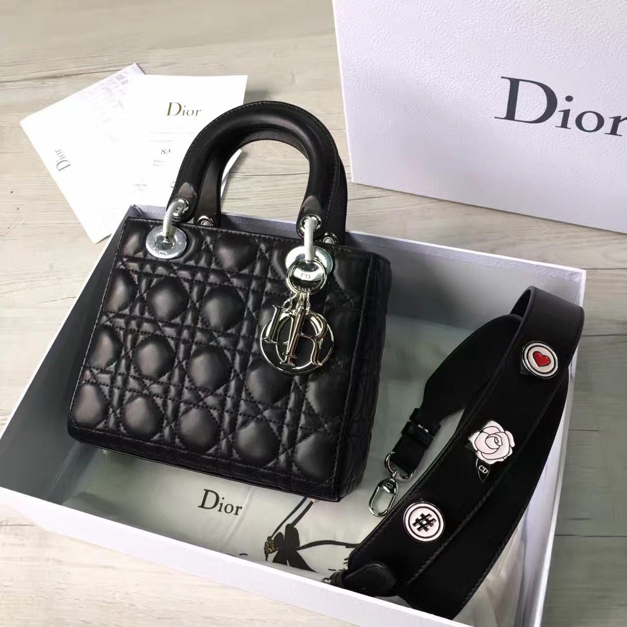 0d519fb96c69b Dior My Lady Dior Bag With Badge Shoulder Strap Black Cruise 2017(Silver  Hardware)