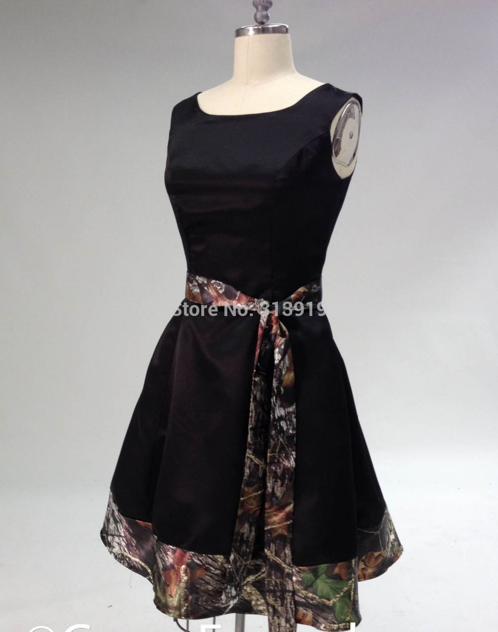 Free shipping knee length lady short camo party dresses new