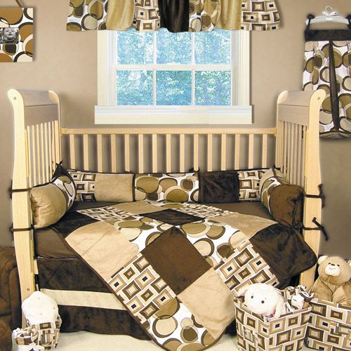 Trend Lab Bubbles Brown 4 Piece Crib Bedding Set By Baby At Babyearth 85 48