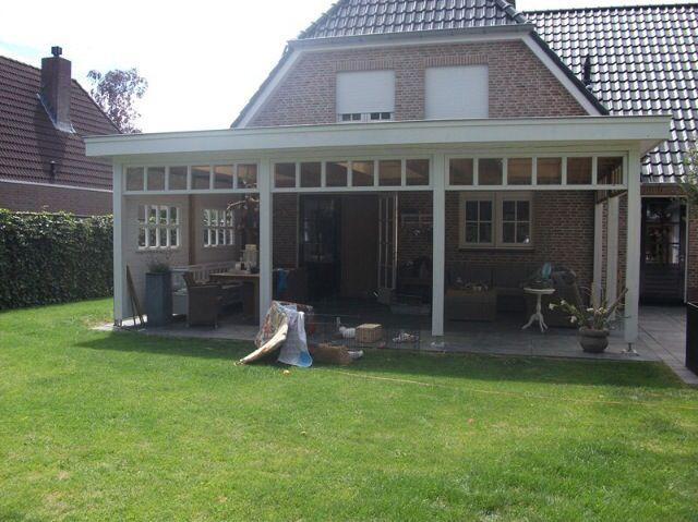 Veranda aan huis wit overkapping veranda