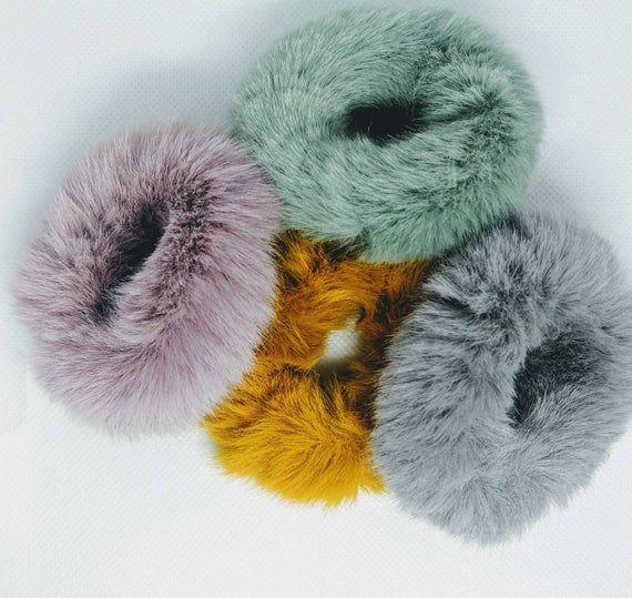 Set of 4 Hair scrunchies-, hair scrunchies-, hair, handmade, stocking filler, birthday gift, girls,k #hairscrunchie
