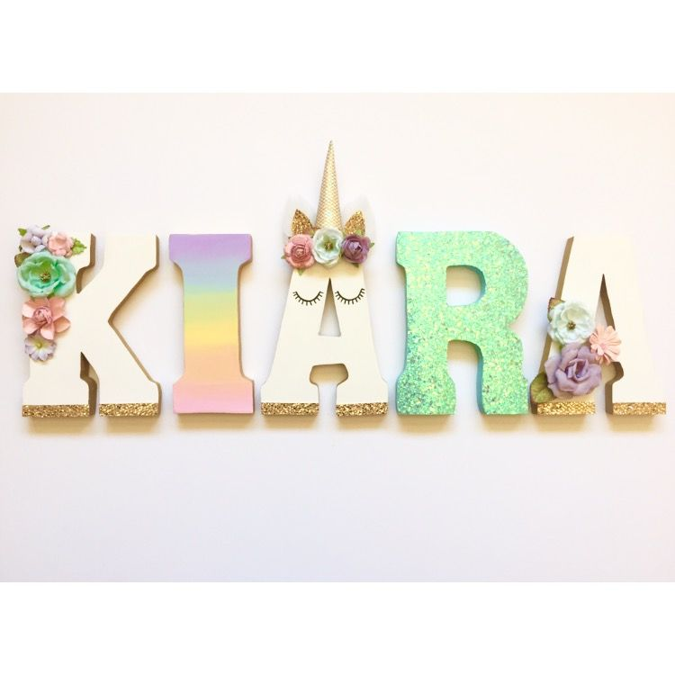 Unicorn Themed Letters   Unicorn party, Decoration and Woods