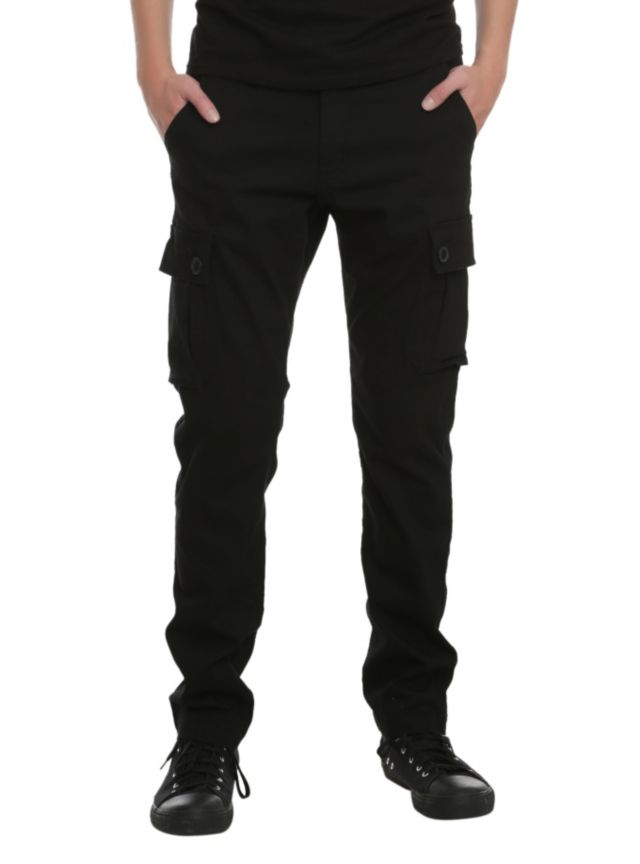 RUDE Black Slim Fit Cargo Pants | Hot Topic | Cargo pants ...