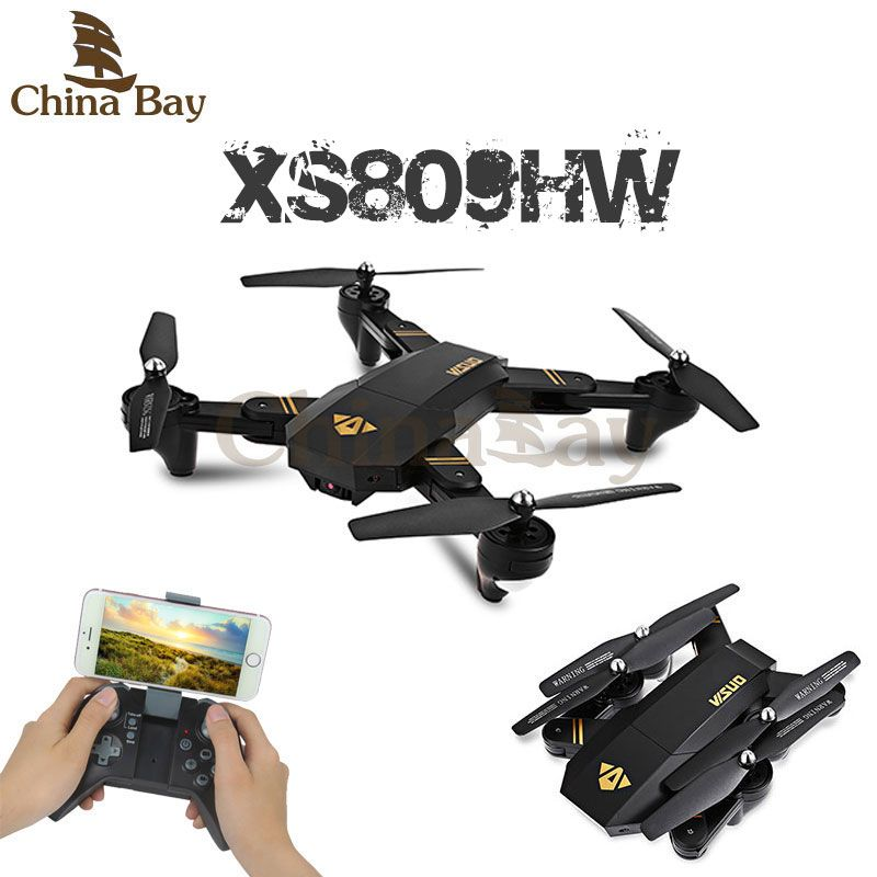 Click To Buy RC Dron Visuo XS809W XS809HW Mini Foldable Selfie Drone