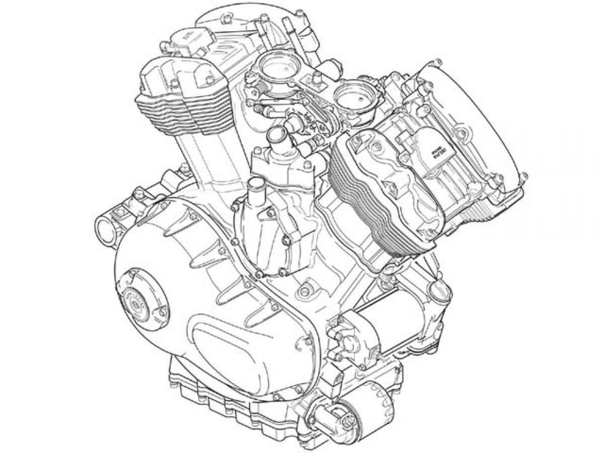 Motorcycle Engine Part Diagram