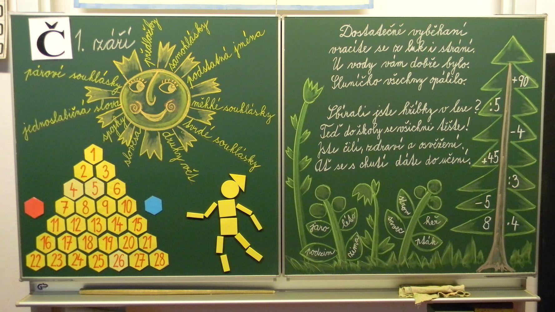 Tabule na 1. září - 3. třída