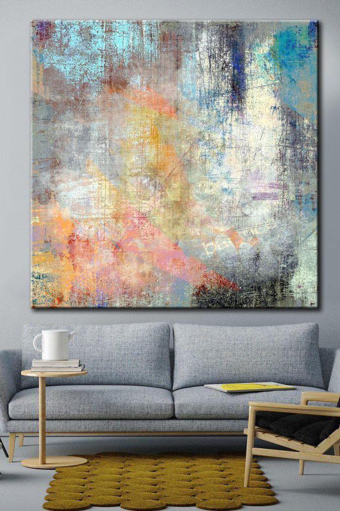 Kunst bunte abstrakte Acrylfarbe Leinwand Kunst Original Wandkunst | BUNTER TRAUM 258,00 USD ... #ArtSuppliesPaint