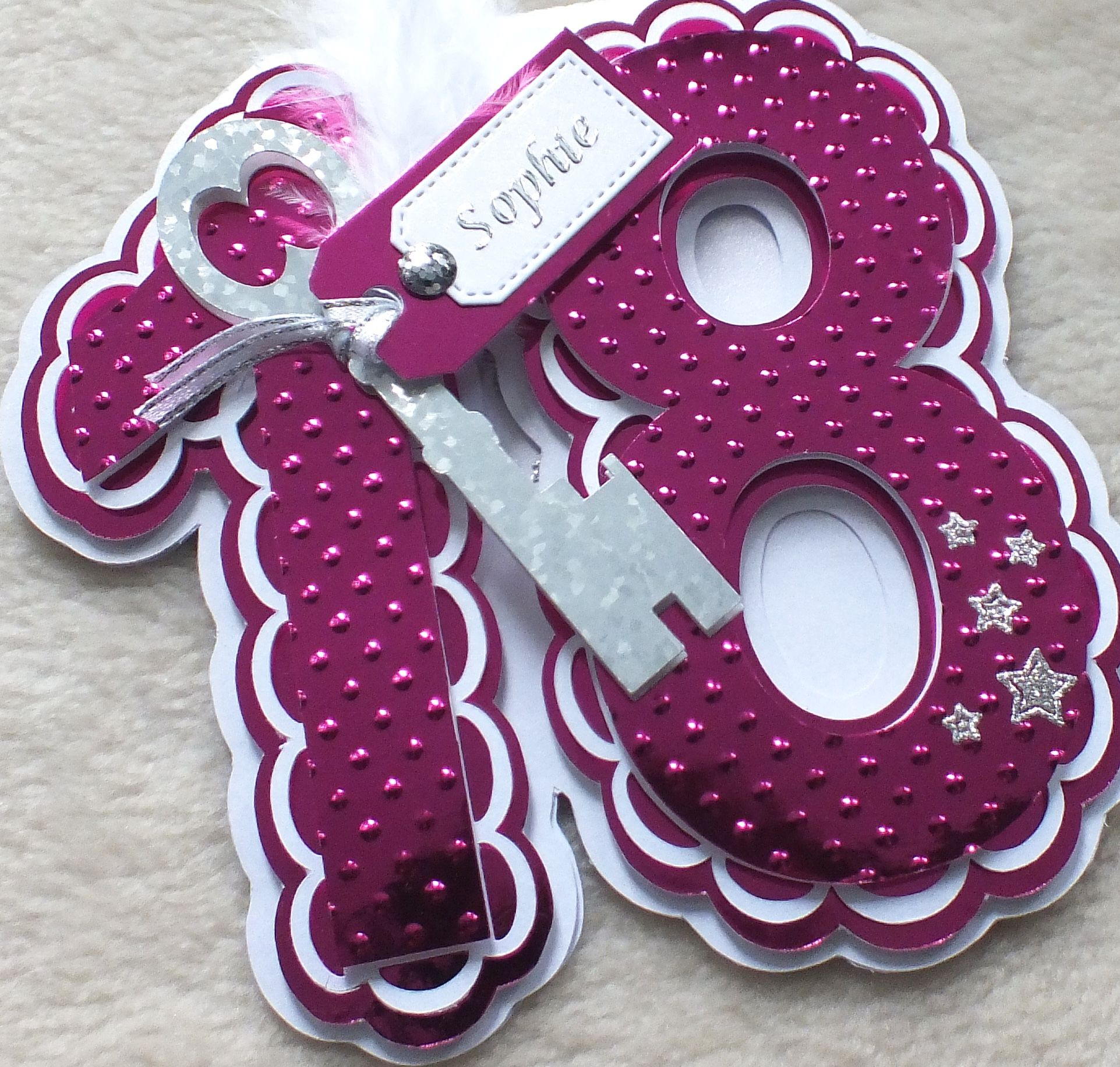 18th birthday shaped card handmademandishella