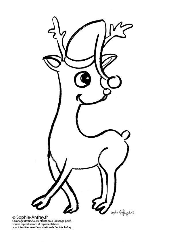 Rene Du Pere Noel rene du pere noel dessin   Recherche Google   Christmas coloring