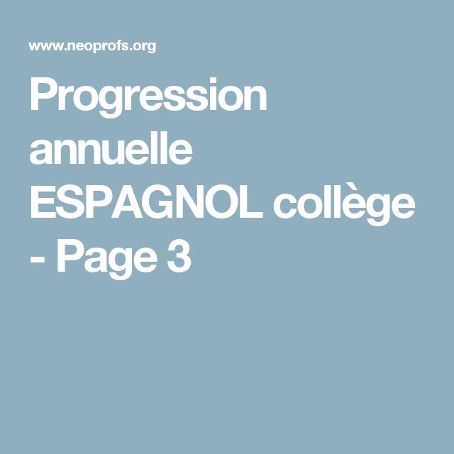 Progression annuelle ESPAGNOL collège - Page 3