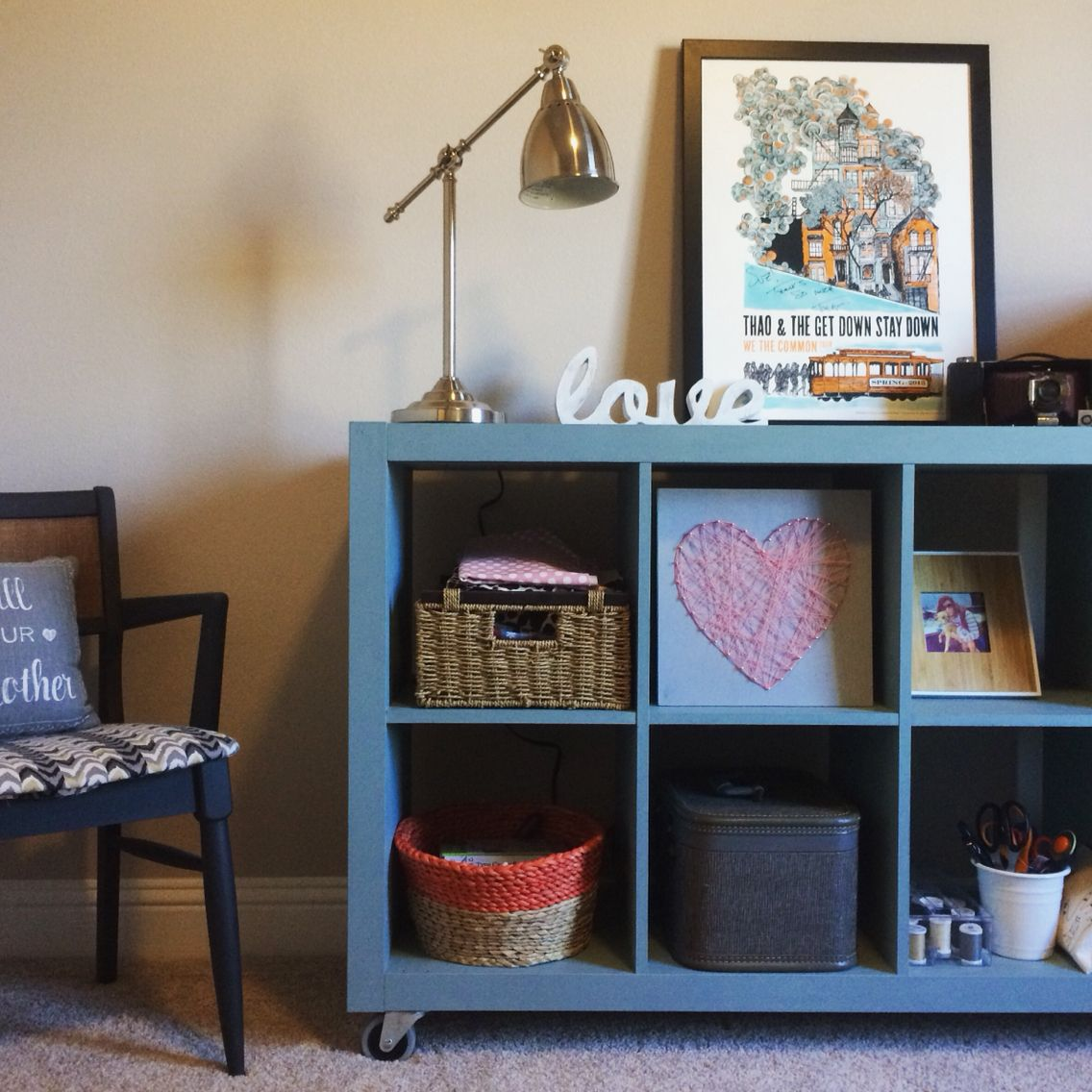 Ikea Expedit Chalk Paint Expedit Ikea Bookshelf Painted Duck Egg Blue With Annie Sloan