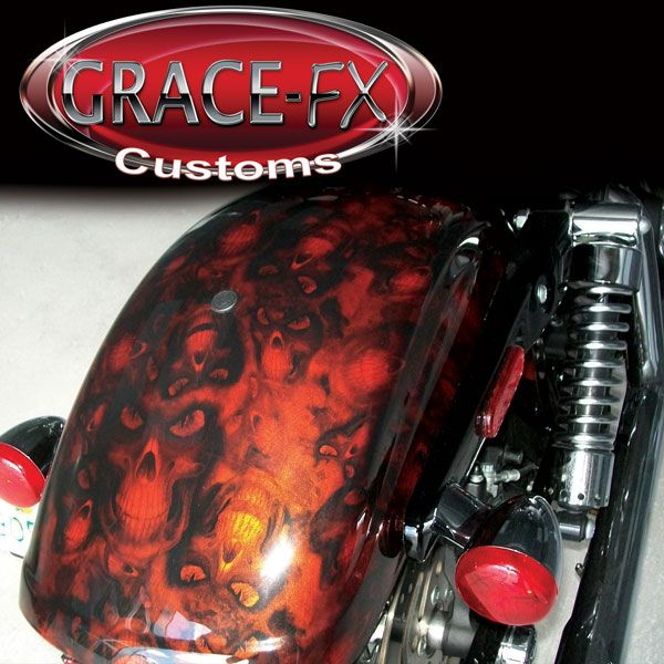 """Fender with """"Reaper"""" over orange from Grace-FX"""