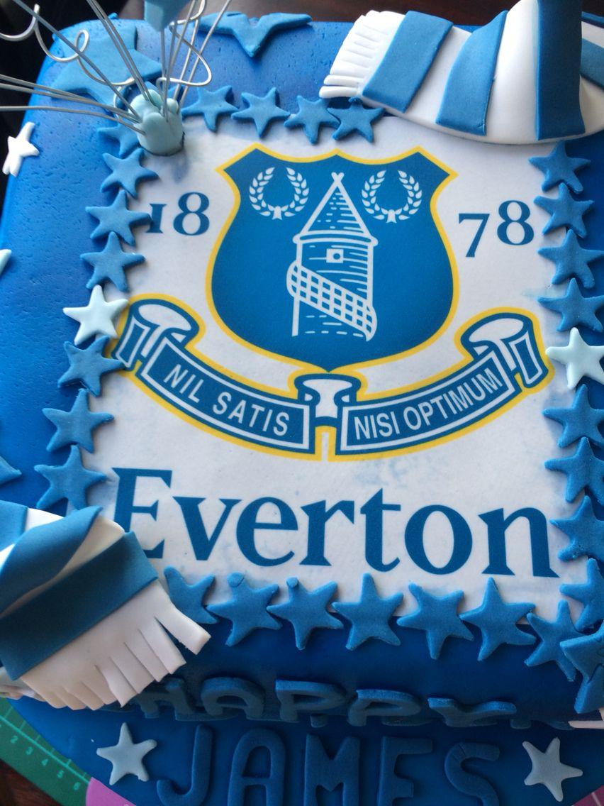 Everton cake Football cake ideas Pinterest
