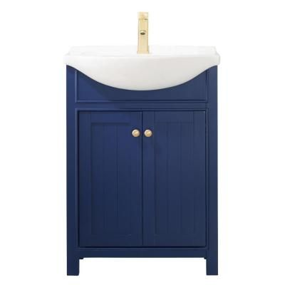 Design Element Marian 24 In W X 17 In D Bath Vanity In Blue With