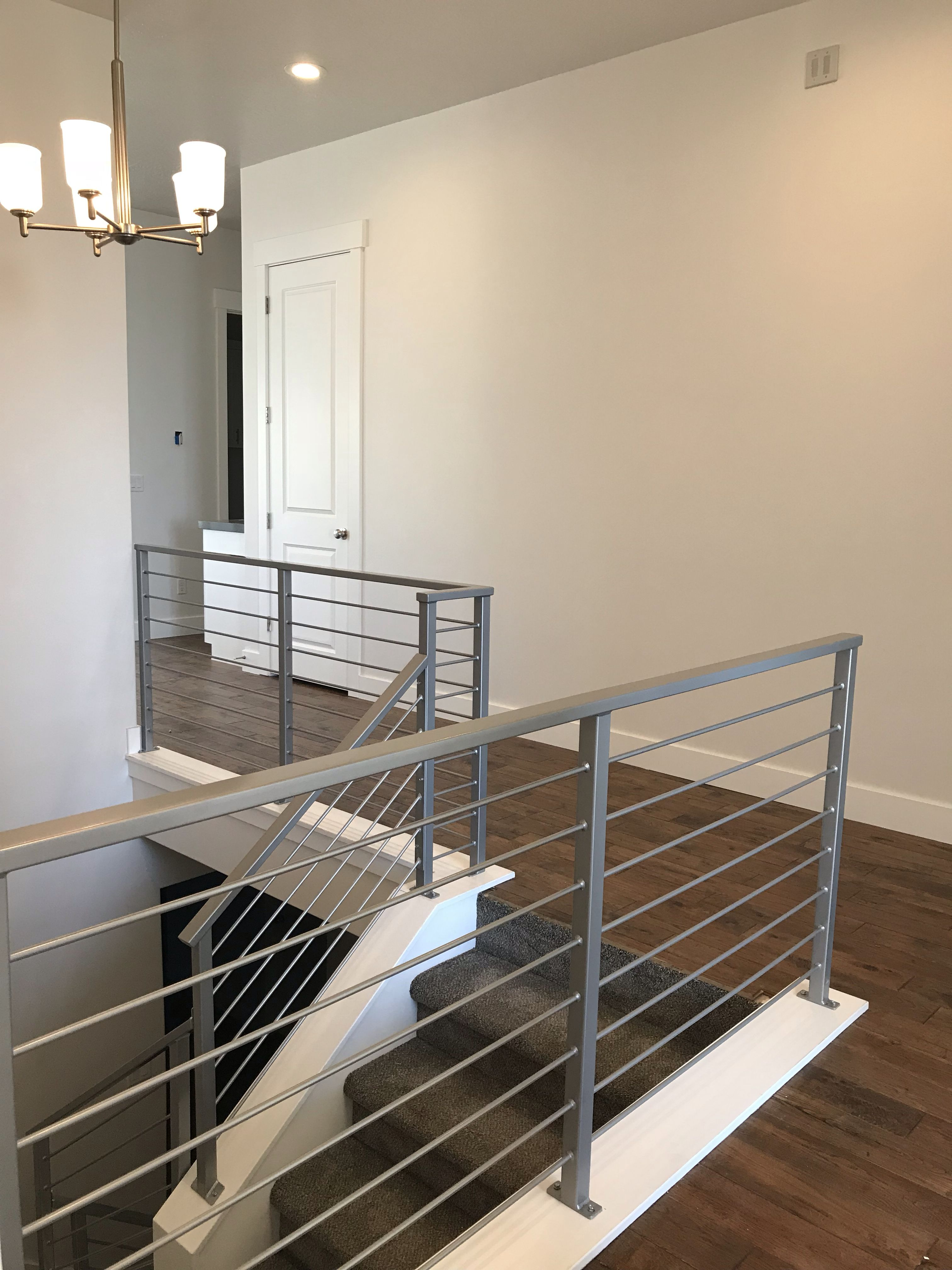 Best This Fun Modern Silver Stair Rail Is In Our Client's New 400 x 300