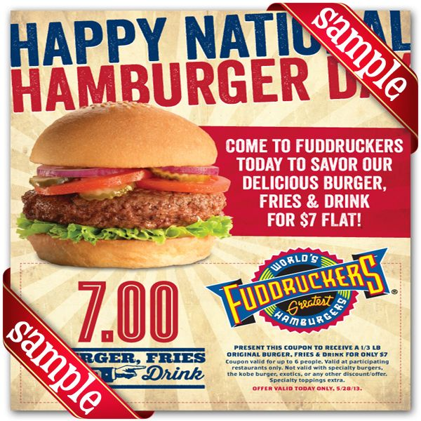 image about Fuddruckers Coupons Printable known as Fuddruckers Printable Coupon December 2016 Printable