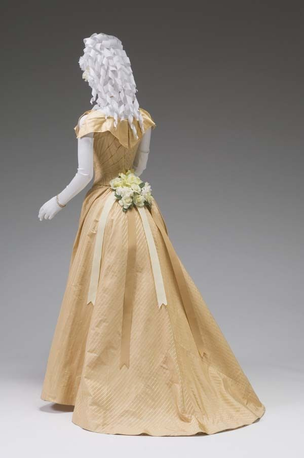 Ball Gown c.1880-1885 Mint Museum | Victorian Orange Gowns 1837 ...