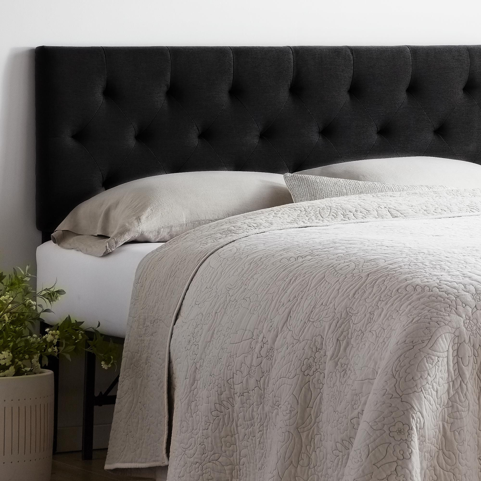 Rest Haven Upholstered Diamond Tufted Mid Rise Headboard Twin