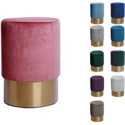 Kayoom Hocker »Nano 110«, rundes Möbelstück,mit Polyesterbezug und Edelstahlfuß Kayoom