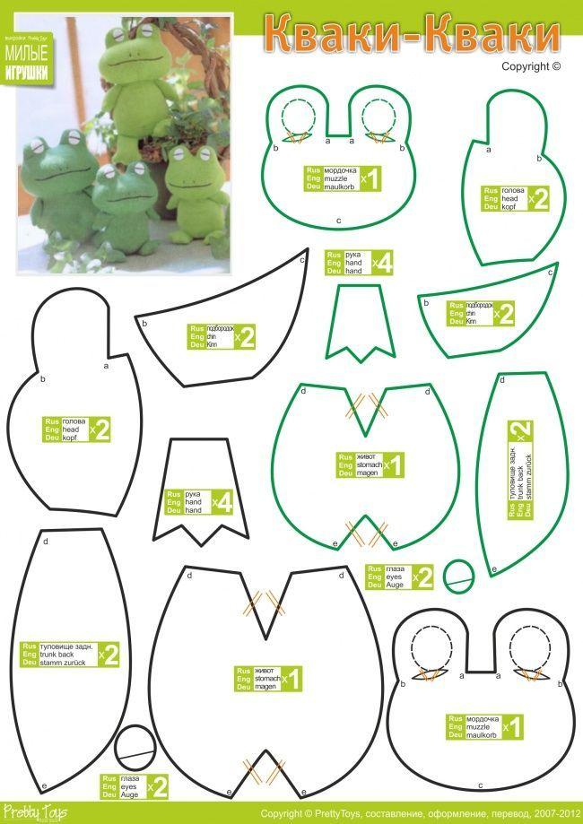 Kawaii Plushie Patterns | Pattern, Stuffed Animal Pattern, How to Make a Toy Animal Plushie ...
