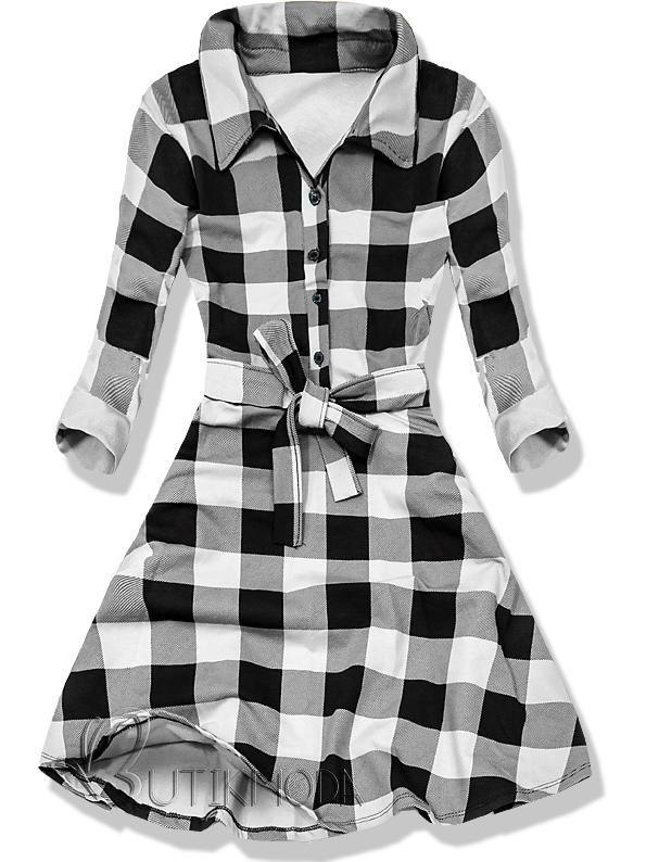 Kleid weiß schwarz 9258 | Kleider, Damen bekleidung ...