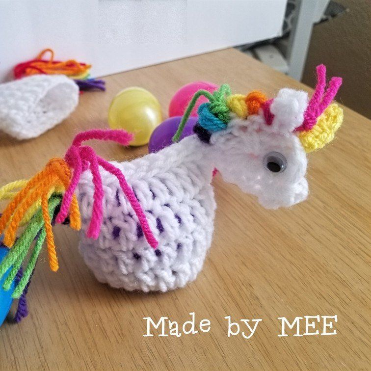 Unicorn birthday/Unicorn party favor/Unicorn Cozy/unicorn Coozie/unicorn birthday party/unicorn decoration/Unicorn Cover I just love these little blessings of unicorns.  They are perfect for kids' Easter baskets or as table decorations