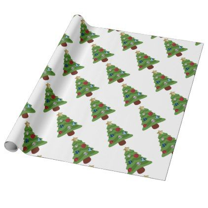 Emoji Christmas Tree Wrapping Paper Zazzle Com Christmas Tree Wrapping Paper Emoji Christmas Tree Emoji Christmas