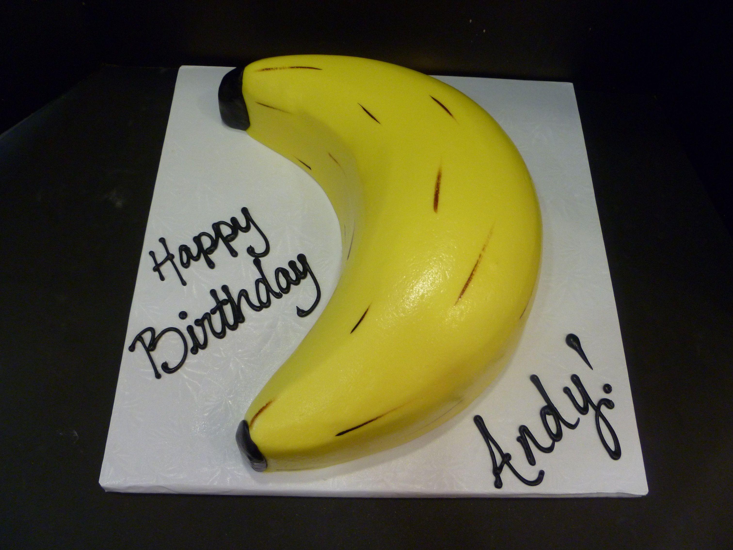 Magnificent Banana Shaped Cake Banana Cake Birthday Cake Toppers Banana Party Funny Birthday Cards Online Elaedamsfinfo