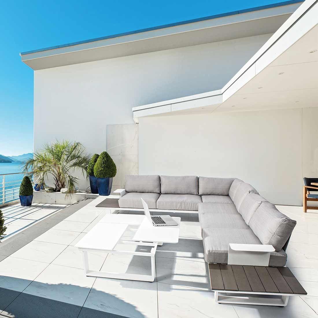 Bizzotto Konnor Loungeset 3tlg Aluminium Olefin Polywood Garten Freizeit Lounge Mobel Lounge Balkon Dekor