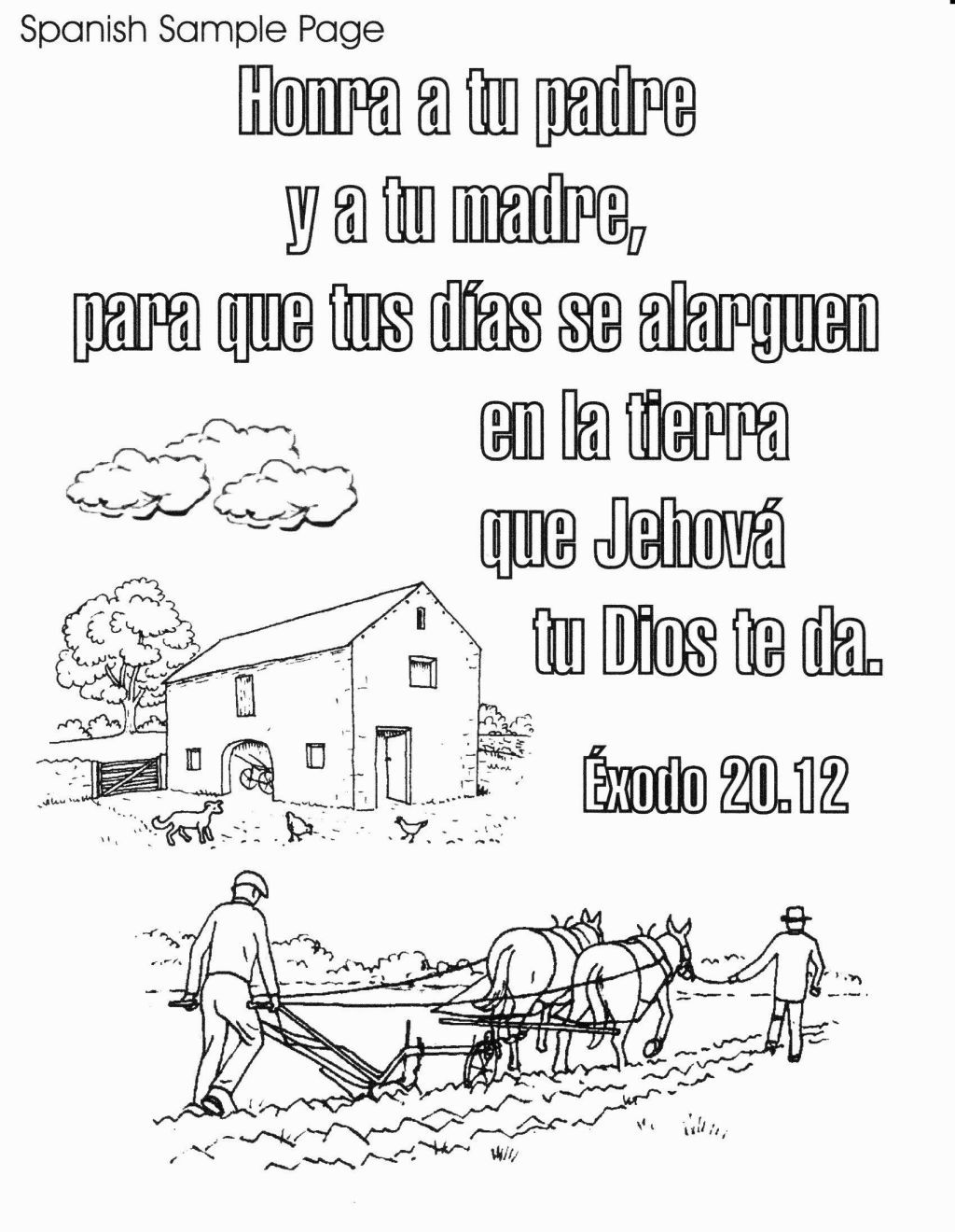 Coloring Pages In Spanish Bible Verse Coloring Bible Coloring Pages Christian Coloring