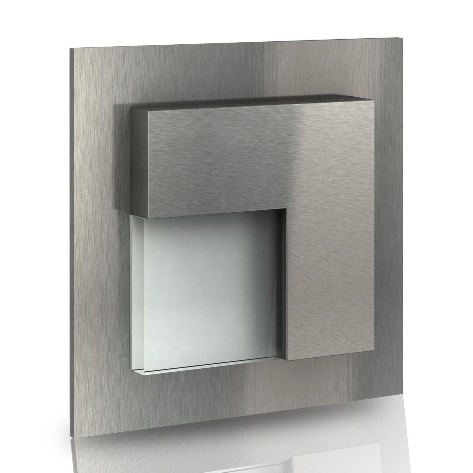 Details zu LED Wandeinbauleuchte Stufenleuchten 230V Edelstahl 1W ...