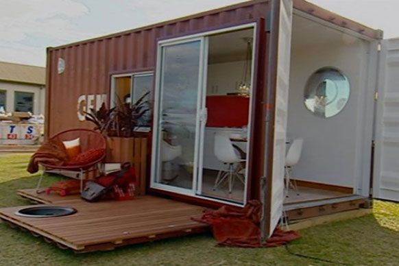 Jamie Durie Top Design Sydney Australia 5 X 20 Ft Container Studio Homes Container Homes Australia Container House Container House Design