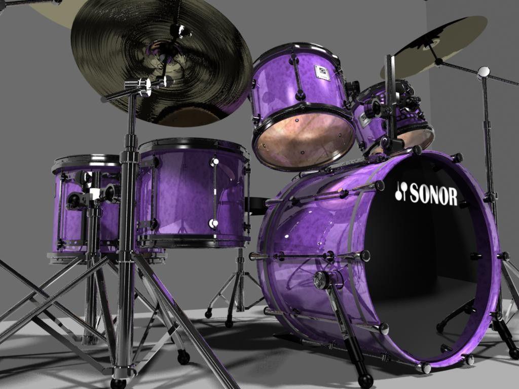 3d Drumset Sonor Designer 3d Model Drums Pinterest Drums