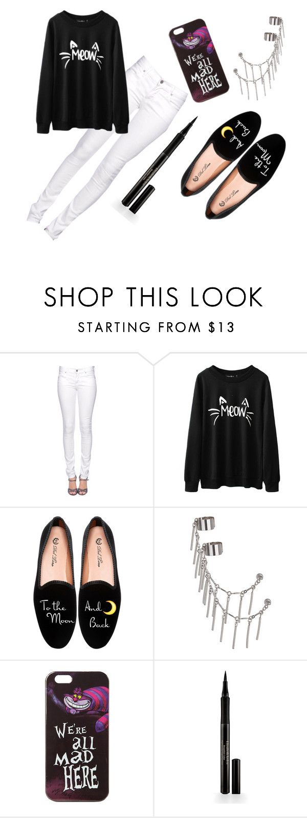 """""""Black cat #1"""" by ayyra ❤ liked on Polyvore featuring Citizens of Humanity, Del Toro, Topshop, Disney and Elizabeth Arden"""