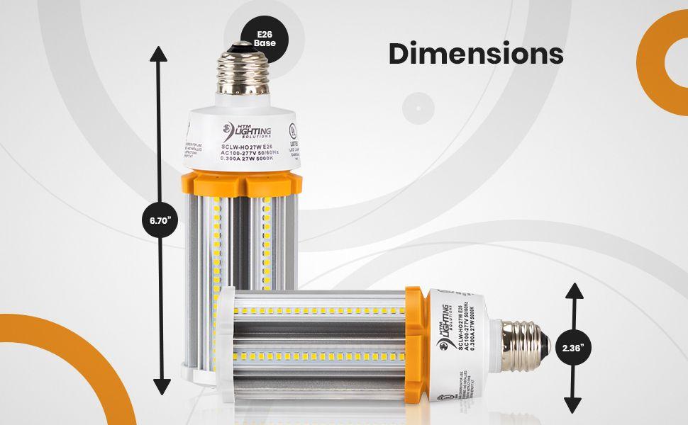 27w Led Corn Light Bulb 100w 150w Metal Halide Equal 3 915 Lumen Bulb 150w Canopy Lights