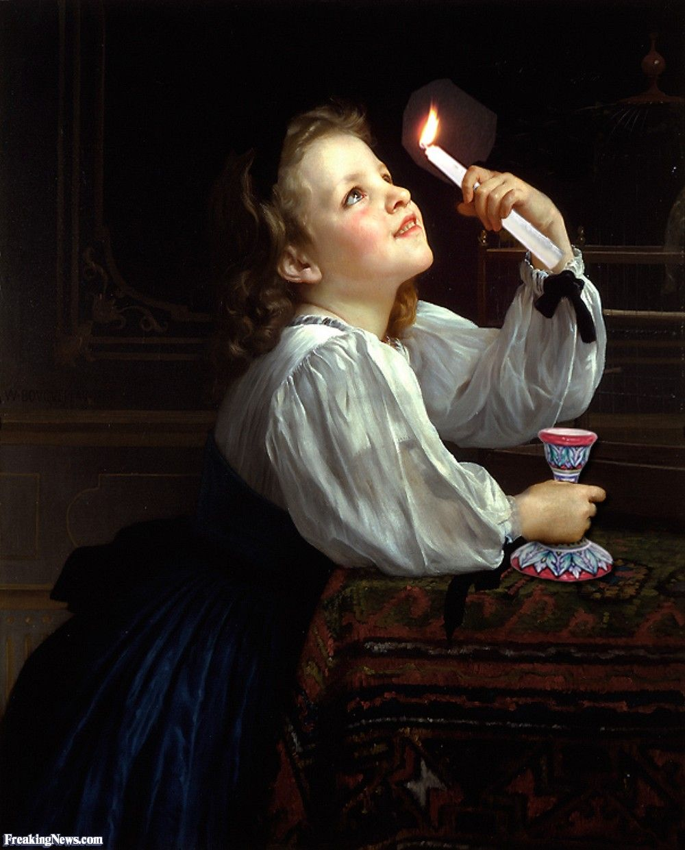 Girl with a Candle Painting | πίνακες (λεπτομέρειες για μελέτη ... for Girl With Candle Painting  126eri