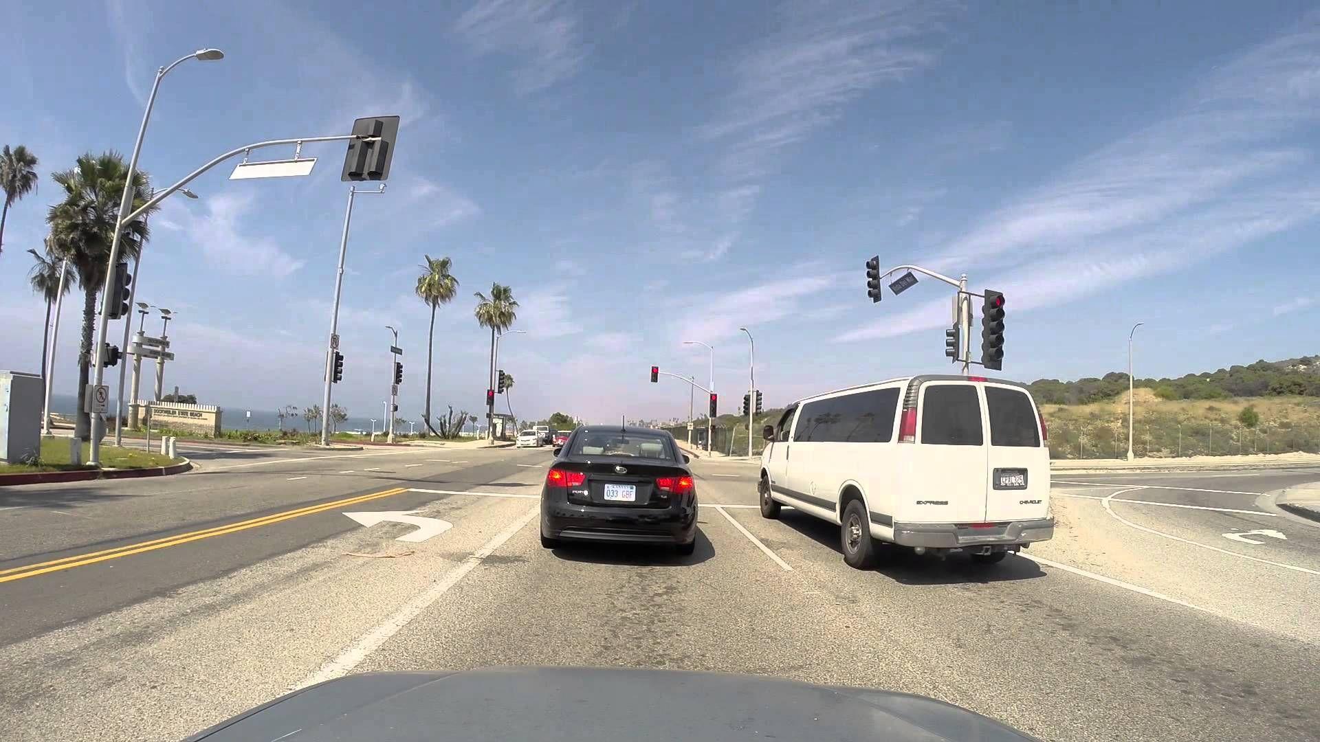 Driving On West Los Angeles Manhattan Beach Marina Del Rey Manhattan Beach West Los Angeles Marina Del Rey