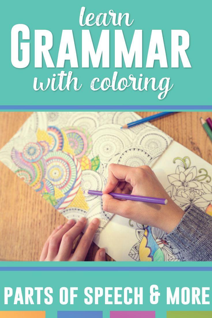 Grammar Coloring Sheet Bundle: Flowers | Grammar lesson plans ...