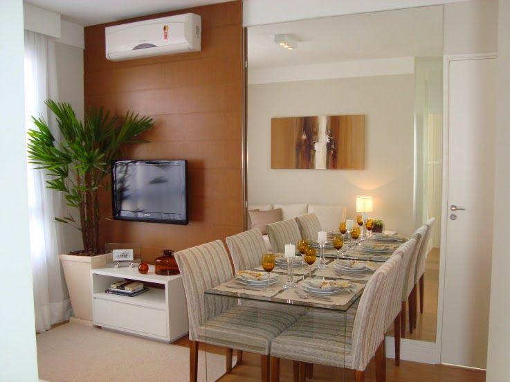 Duas pequenas salas integradas estar e jantar for Salas pequenas para casas pequenas