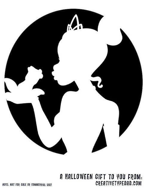 free tiana princess and the frog pumpkin stencil halloween ideas