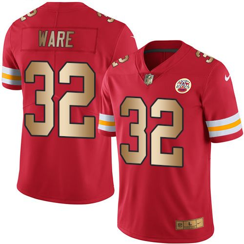 Nike Chiefs #32 Spencer Ware Red Men's Stitched NFL Limited Gold Rush Jersey  And Lamar