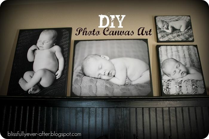 Blissfully Ever After: DIY Photos on Canvas