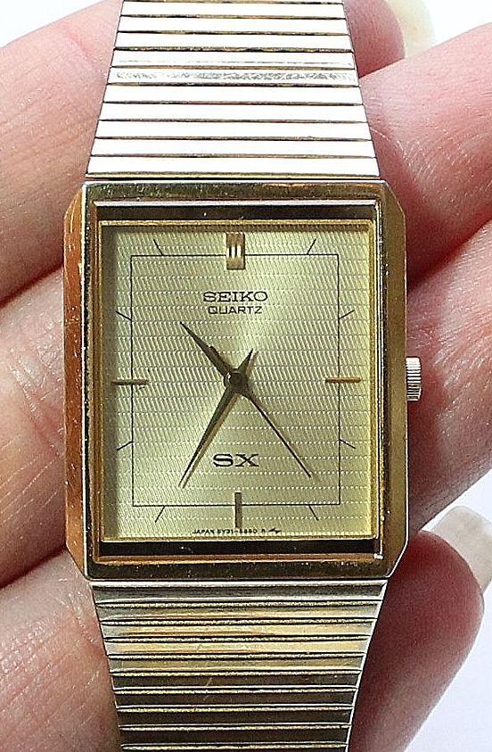 63f6ab597 Men's SEIKO SX Gold Tone Square Dress Watch #Seiko #Dress | Vintage ...