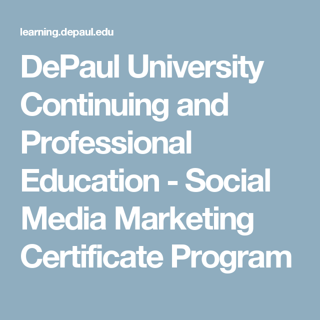 Depaul University Continuing And Professional Education Social