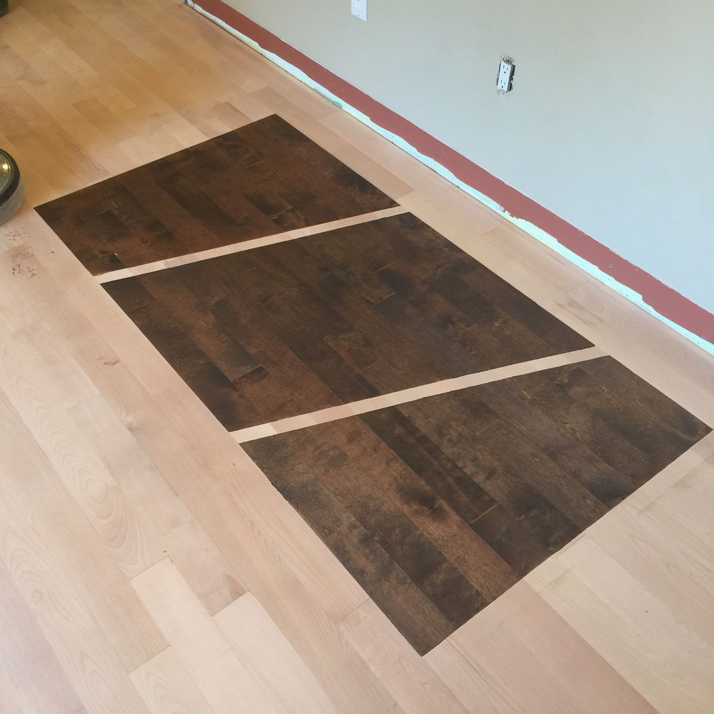 Stain Samples On Birch Hardwood Floor The Best Way To Decide A New Colour For Your Is See It This Service We Offer So